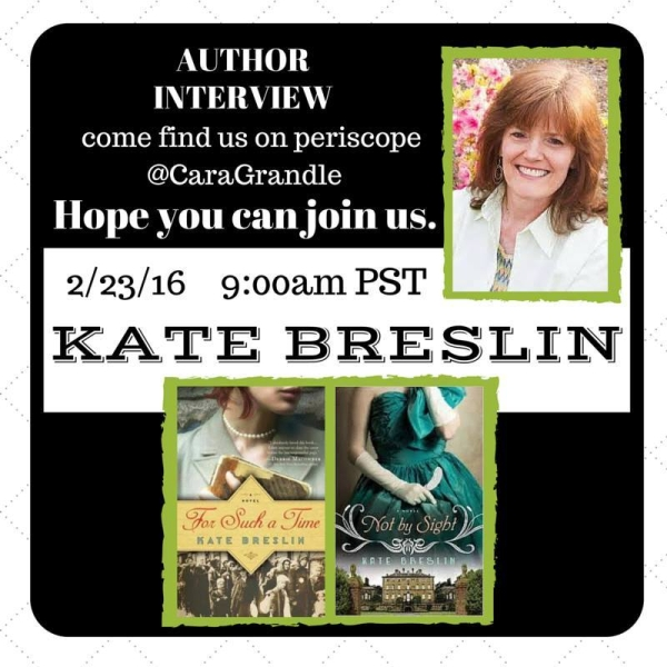 Author Interview Kate Breslin: Periscope Interview