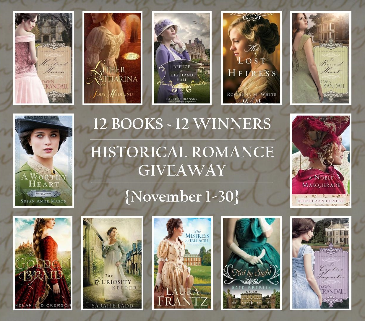 multi-author12 book giveaway